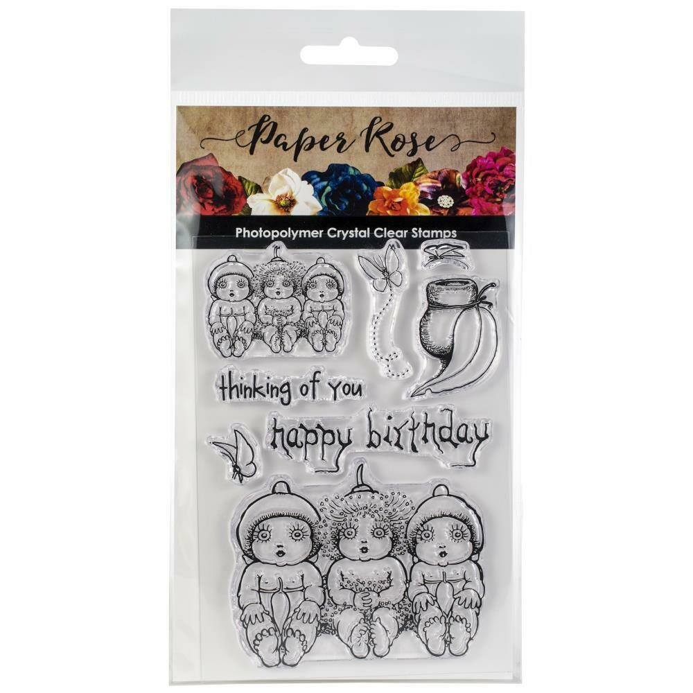Paper Rose - Snugglepot, Cuddlepie & Raggedy Blossom Clear Stamp