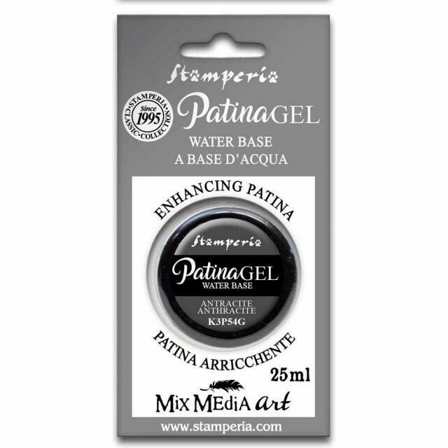 Stamperia Patina Gel - Anthracite 25ml