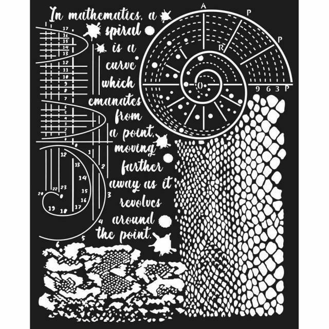 Stamperia Cosmos Python Effect - Thick Stencil 20x25cm