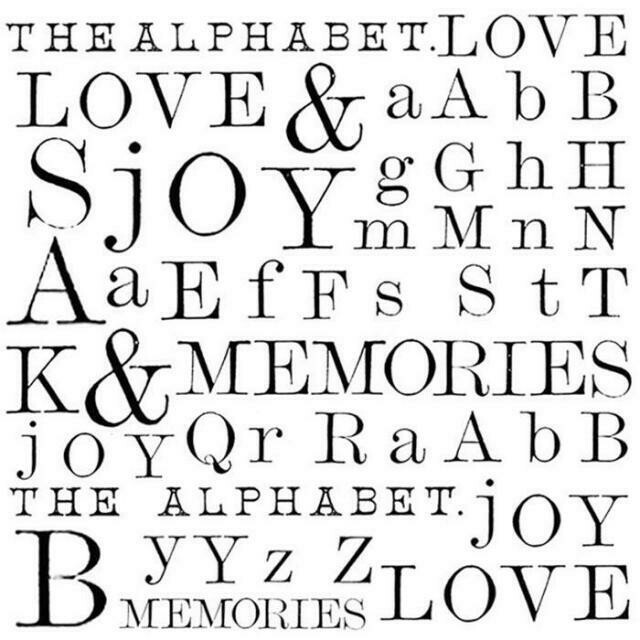 Stamperia Words - HD Unmounted Rubber Stamp 10x10cm