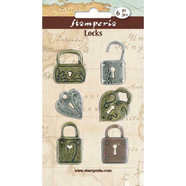 Stamperia - Metal Locks (pack of 6)