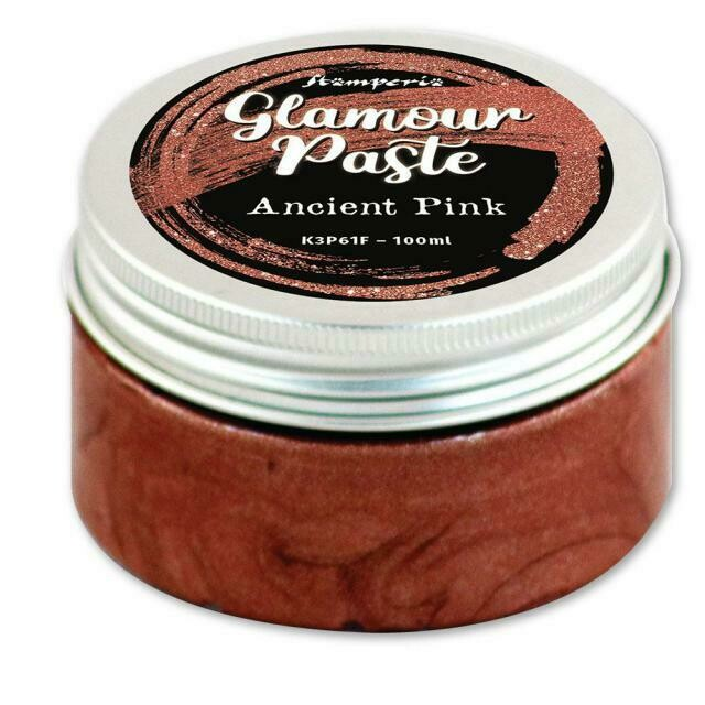 Stamperia Glamour Paste - Ancient Pink 100ml