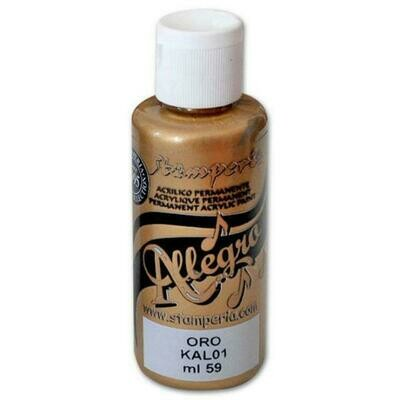 Stamperia Allegro Acrylic Paint - Gold 59ml