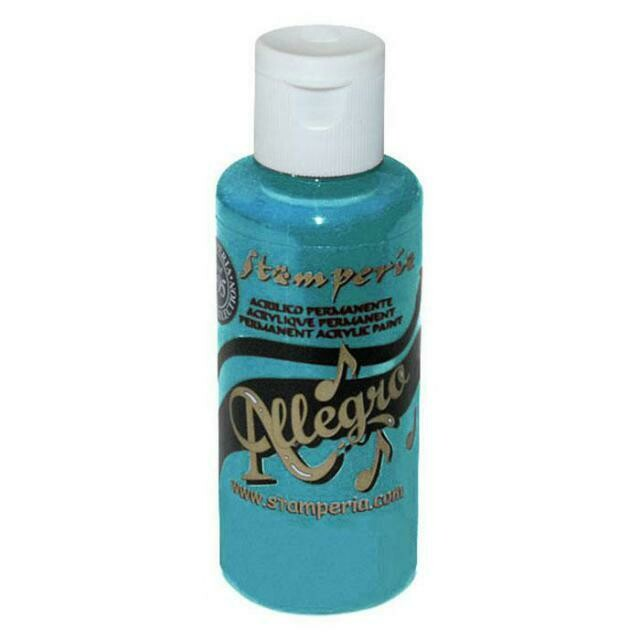 Stamperia Allegro Acrylic Paint - Turquoise 59ml