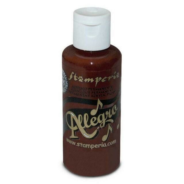 Stamperia Allegro Acrylic Paint - Hearth Brown 59ml