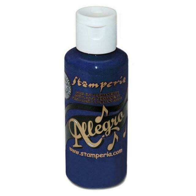 Stamperia Allegro Acrylic Paint - Prussian Blue 59ml