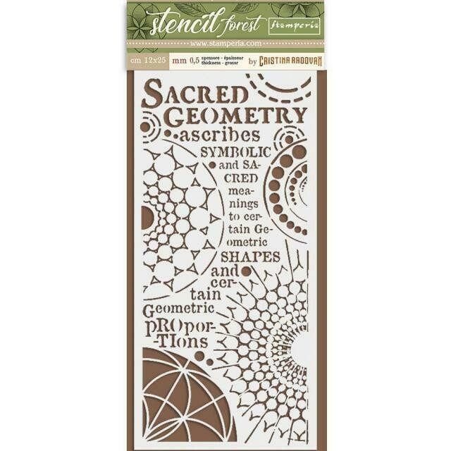 Stamperia Thick Stencil 12x25cm - Forest Sacred Geometry