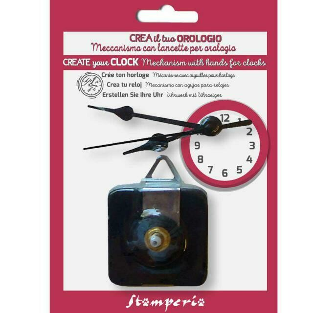 Stamperia Clock Kit Mechanism & Hands 6/8/9 cm