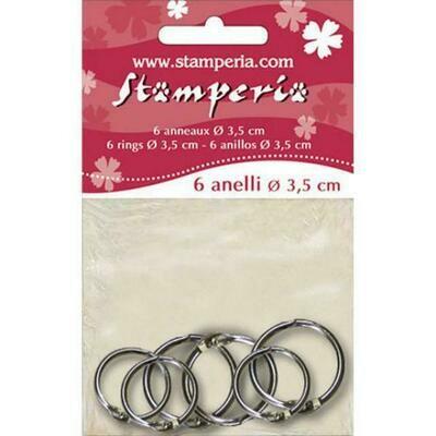 Stamperia - Metal Rings (pack of 6)