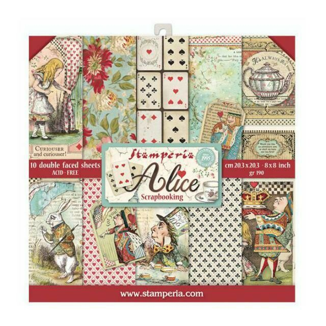 """Alice - Stamperia Double-sided Paper Pad 8""""x8"""""""