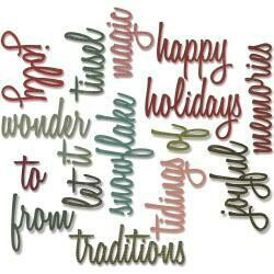 Sizzix Thinlits Dies By Tim Holtz - Holiday Words #2 Script (16/Pkg)
