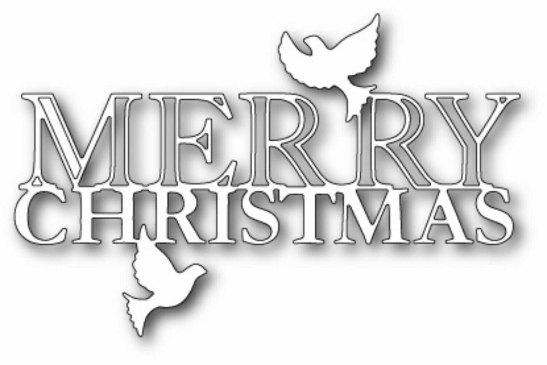 Memory Box Die - Peaceful Merry Christmas