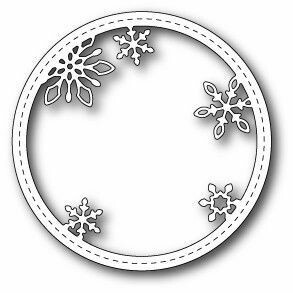 Memory Box Die - Stitched Snowflake Circle Frame
