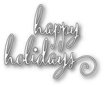 Poppystamps Die - Fancy Happy Holidays
