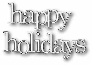 Poppystamps Die - Jumbled Happy Holidays