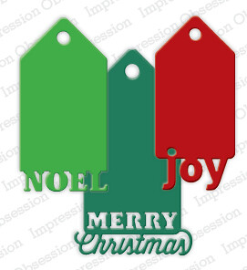 Impression Obsession Dies - Christmas Tags