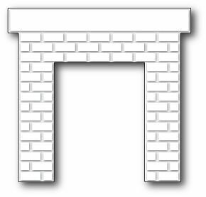 Poppystamps Die - Classic Brick Fireplace