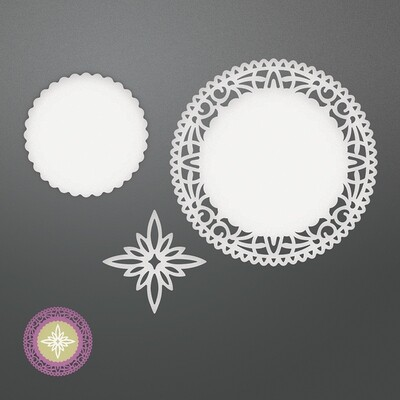 Couture Creations Dies - North Star Doily Set