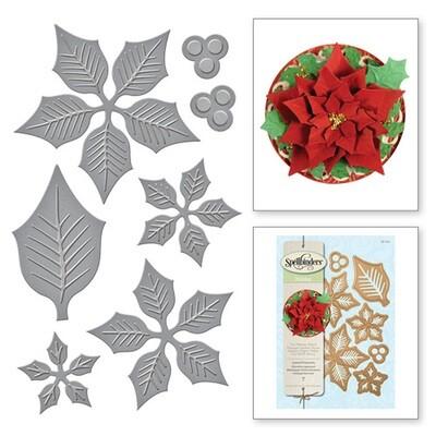 Spellbinder Shapeabilities - Layered Poinsettia Die Set