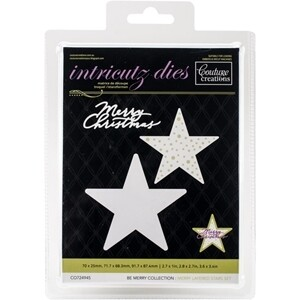 Couture Creations Dies -Merry Layered Stars Set