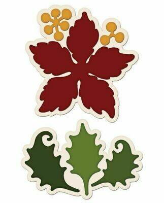 Heartfelt Creations - Large Sparkling Poinsettia Stamp