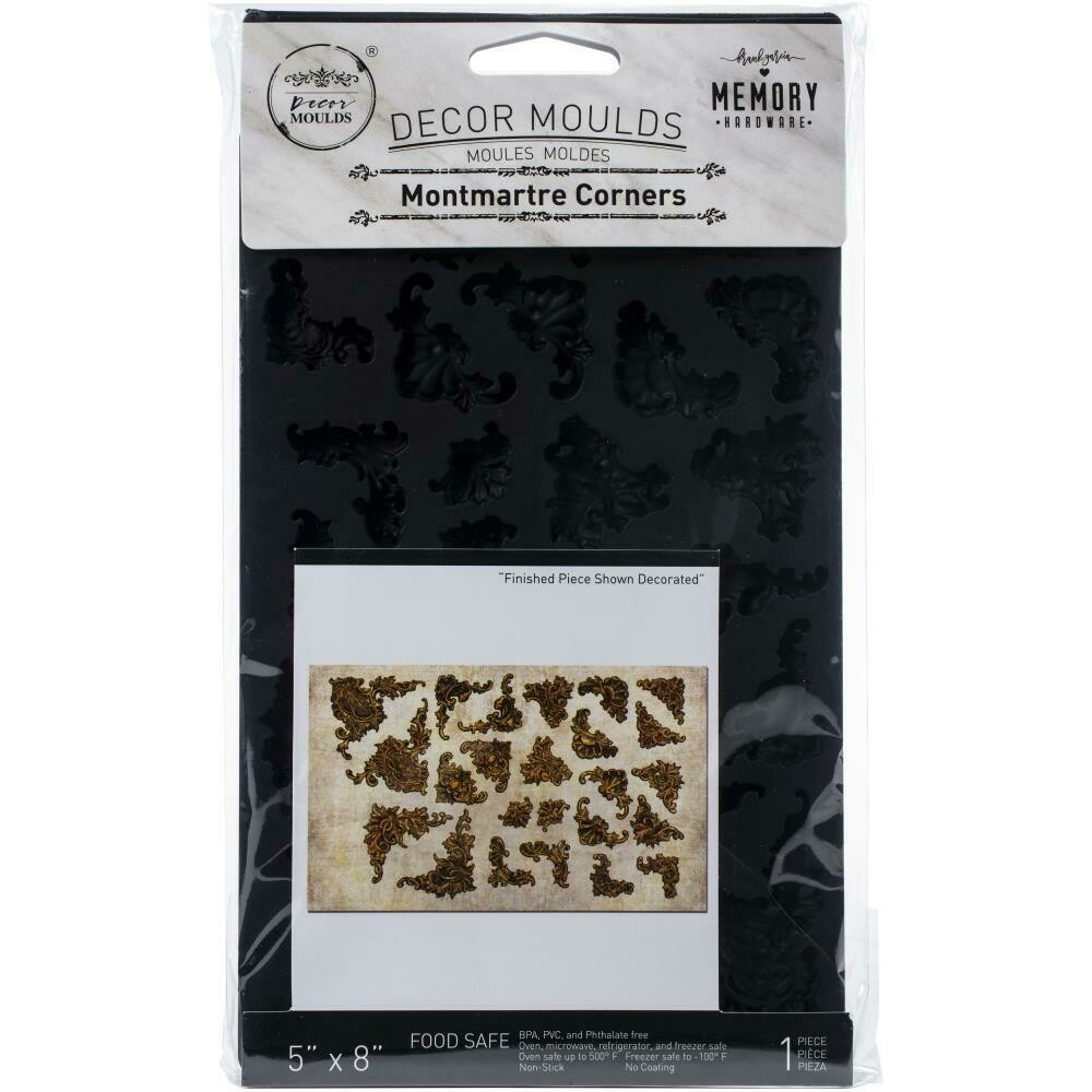 "Prima Marketing Re-Design Mould 5""X8""X8mm - Montemartre Corners"