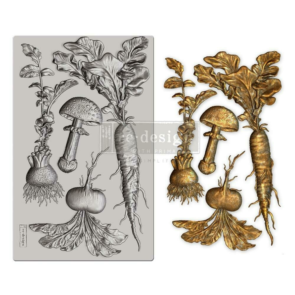"Prima Marketing Decor Mould - Vintage Roots Re-design 5""×8"""