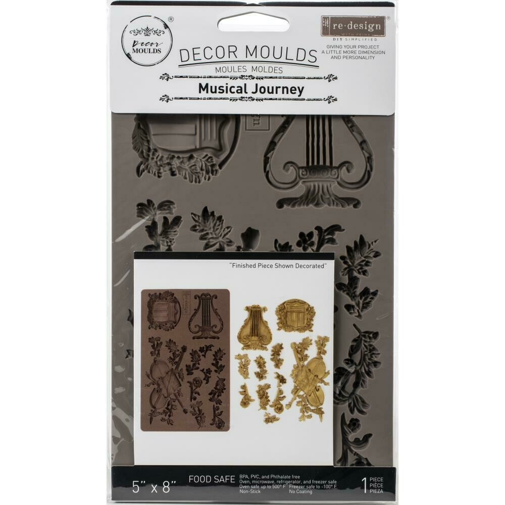 "Prima Marketing Re-Design Mould 5""X8""X8mm - Musical Journey"