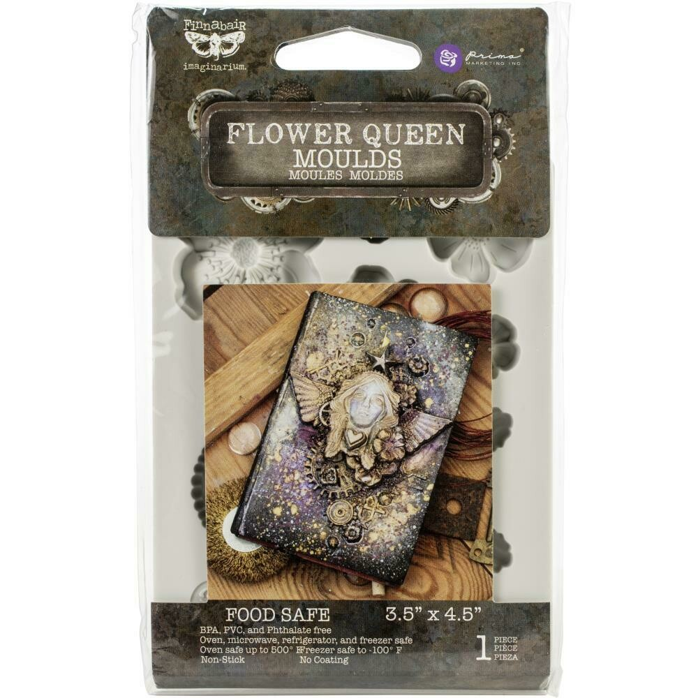 "Finnabair Decor Moulds 3.5""X4.5"" - Flower Queen"