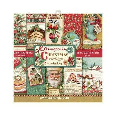Vintage Christmas - Stamperia Double-sided Paper Pad 8