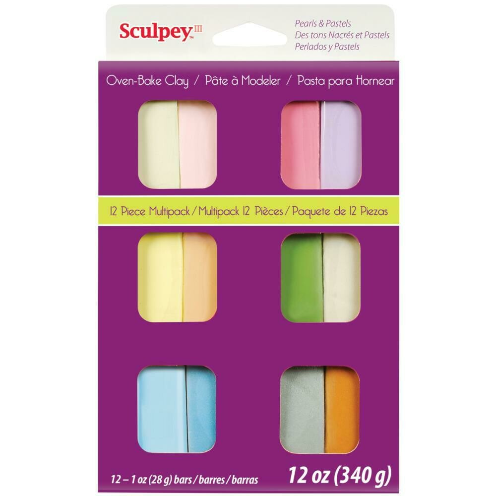 Sculpey® III Multipack Polymer Clay - 12 pc - Pearls & Pastels