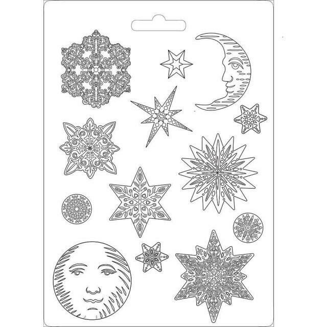 Stamperia A4 Soft Maxi Moulds - Snowflakes (Winter Tales)