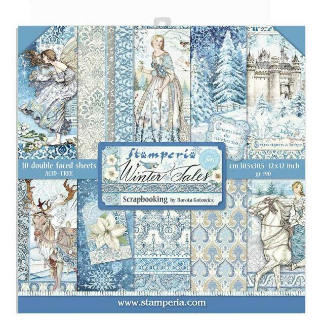 "Winter Tales - Stamperia Double-sided Paper Pad 12""x12"""