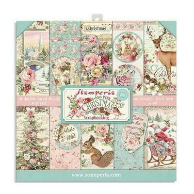 Pink Christmas II - Stamperia Double-sided Paper Pad 8