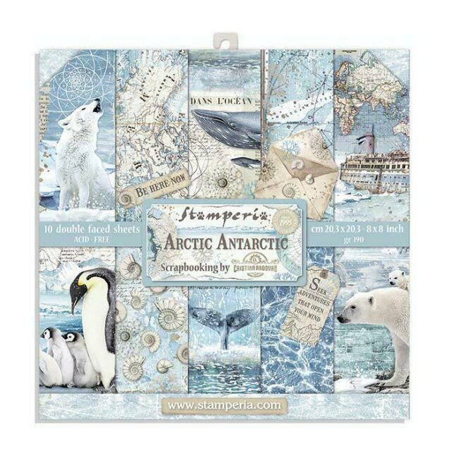 "*PRE-ORDER* Arctic Antarctic - Stamperia Double-sided Paper Pad 8""x8"""