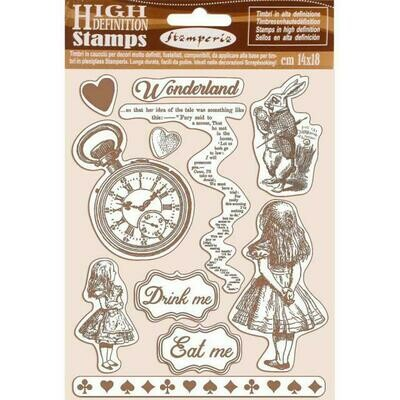 Stamperia Alice - HD Unmounted Rubber Stamp 14x18cm
