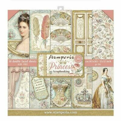 Princess - Stamperia Double-sided Paper Pad 12
