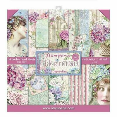 Hortensia - Stamperia Double-sided Paper Pad 12