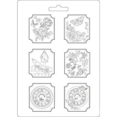 Stamperia A4 Soft Maxi Moulds - Plaquettes House of Roses
