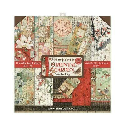 Oriental Garden - Stamperia Double-sided Paper Pad 8