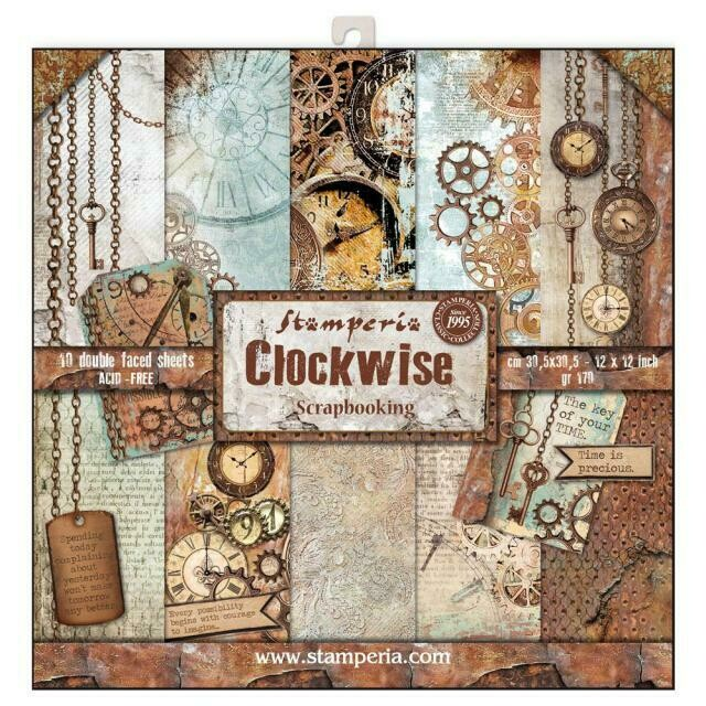 """Clockwise - Stamperia Double-sided Paper Pad 12""""x12"""""""