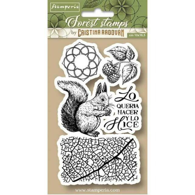 Stamperia Forest Squirrel - HD Unmounted Rubber Stamp 10x16.5cm