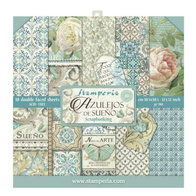 "Azulejos - Stamperia Double-sided Paper Pad 12""x12"""