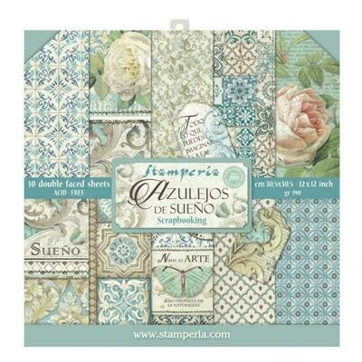 Azulejos - Stamperia Double-sided Paper Pad 12