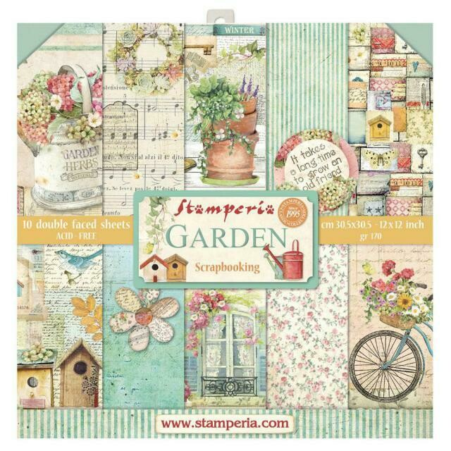 """Garden - Stamperia Double-sided Paper Pad 12""""x12"""""""