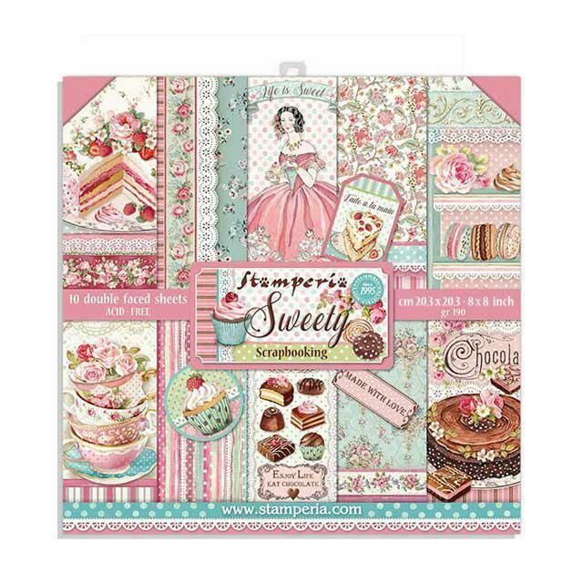 """Sweety - Stamperia Double-sided Paper Pad 8""""x8"""""""