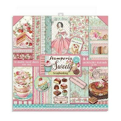 Sweety - Stamperia Double-sided Paper Pad 8
