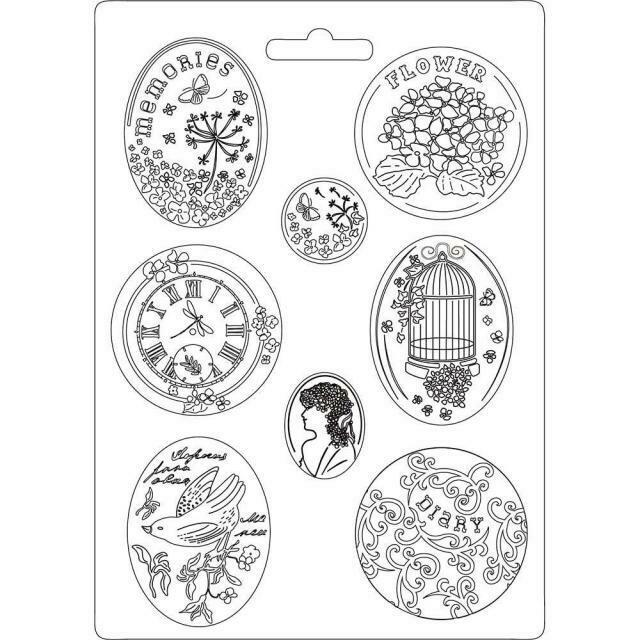 Stamperia A4 Soft Maxi Moulds - Hortensia