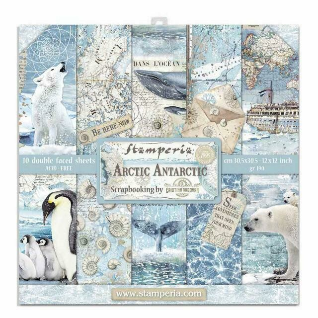 "*PRE-ORDER* Arctic Antarctic - Stamperia Double-sided Paper Pad 12""x12"""