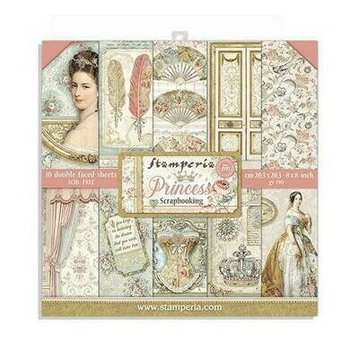 *PRE-ORDER* Princess - Stamperia Double-sided Paper Pad 8
